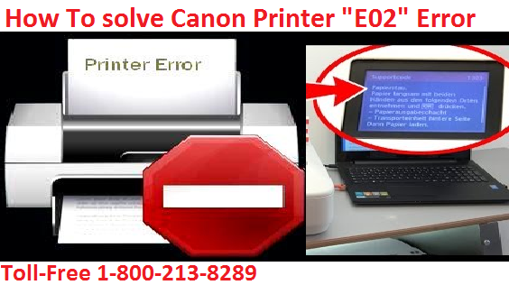 "Steps To solve Canon Printer ""E02"" Error?"