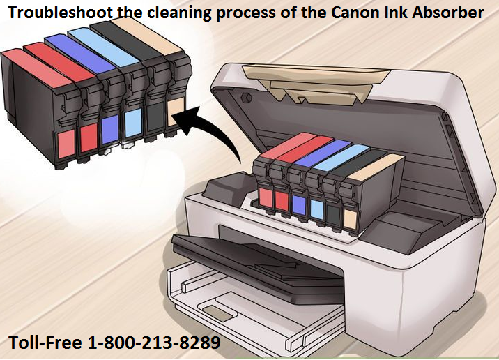troubleshoot the cleaning process of the Canon Ink Absorber