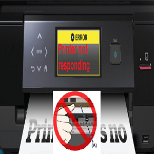 Canon printer says not responding